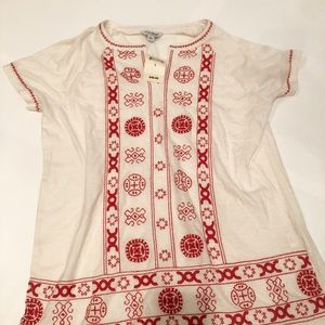 Lucky Brand embroidered shirt NWT